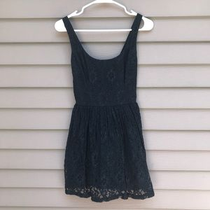 Hollister S small navy blue lace sun dress